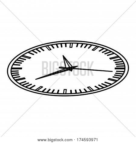 silhouette display stopwatch graphic icon flat vector illustration