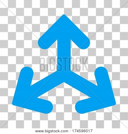 Direction Variants icon. Vector illustration style is flat iconic symbol, blue color, transparent background. Designed for web and software interfaces.