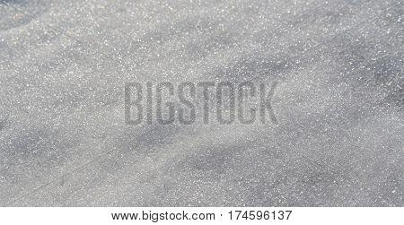 Structure of snow surface South Bohemia Czech republic