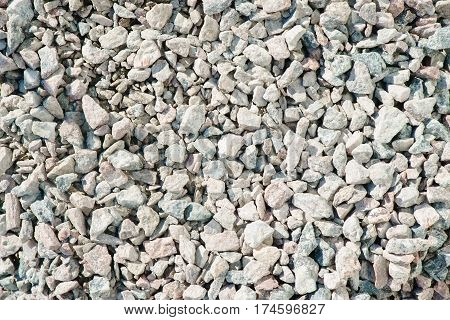 Fine and coarse gravel as background or texture