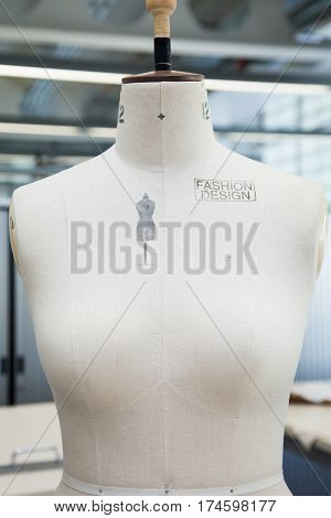 A Fashion Marketing stamped dress makers mannequin