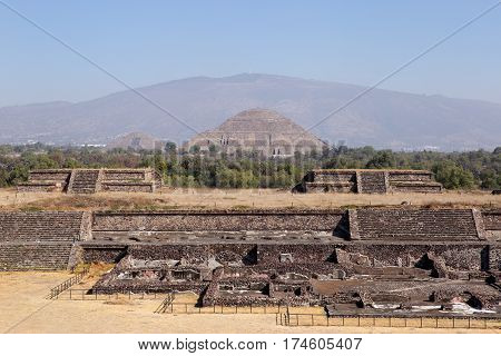 Teotihuacan Citadel and Pyramids of Sun & Moon, Mexico