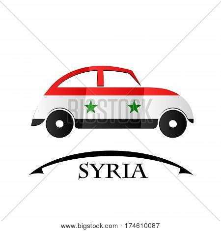 car icon made from the flag of Syria