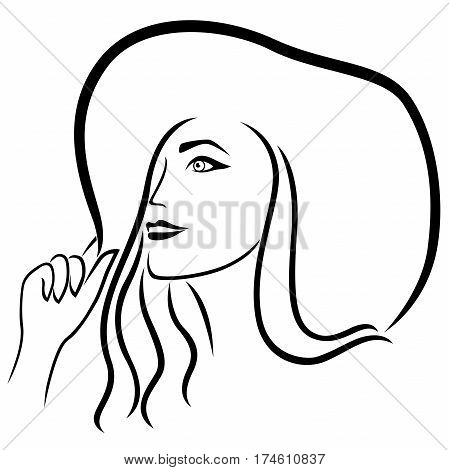 Lady In The Wide-brimmed Hat