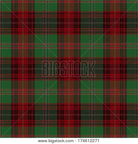 Tartan Seamless Pattern Background. Red Black Green and White Plaid Tartan Flannel Shirt Patterns. Trendy Tiles Vector Illustration for Wallpapers.