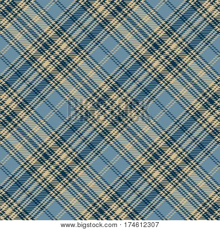 Tartan Seamless Pattern Background. Beige Black and Blue Plaid Tartan Flannel Shirt Patterns. Trendy Tiles Vector Illustration for Wallpapers.