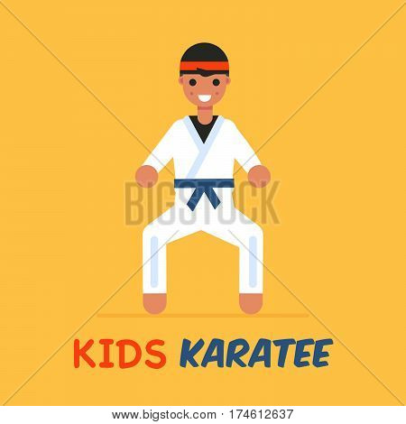 The Advertisement Poster Of Karate School