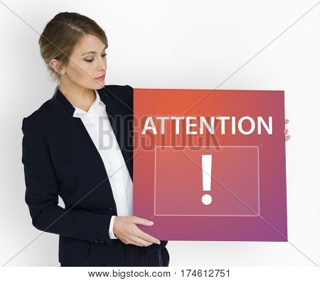 Exclamation mark attention publication announcement graphic