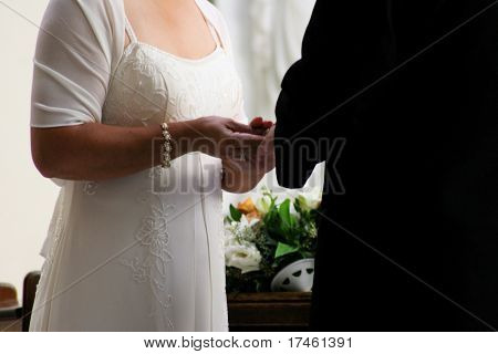 Wedding vows husband and wife ring exchange