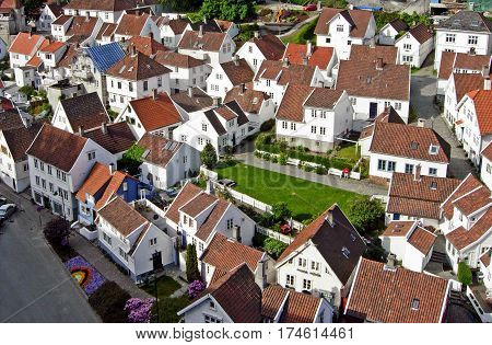 Houses in the city of Stavanger, Norway