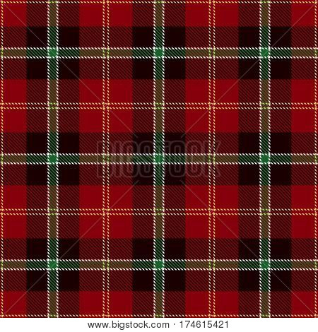 Tartan Seamless Pattern Background. Red Black Yellow Green and White Plaid Tartan Flannel Shirt Patterns. Trendy Tiles Vector Illustration for Wallpapers.