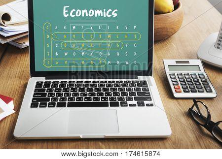 Business Strategy Investment Economics Illustration