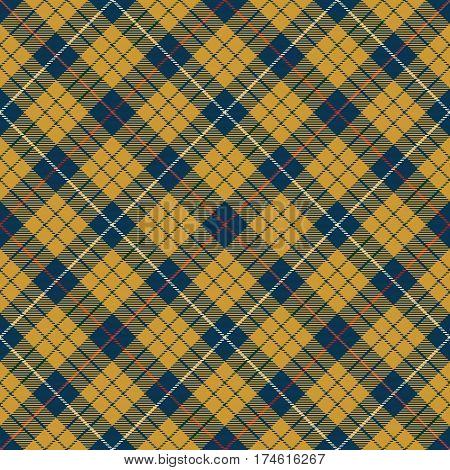 Tartan Seamless Pattern Background. Red Gold Blue and White Plaid Tartan Flannel Shirt Patterns. Trendy Tiles Vector Illustration for Wallpapers.