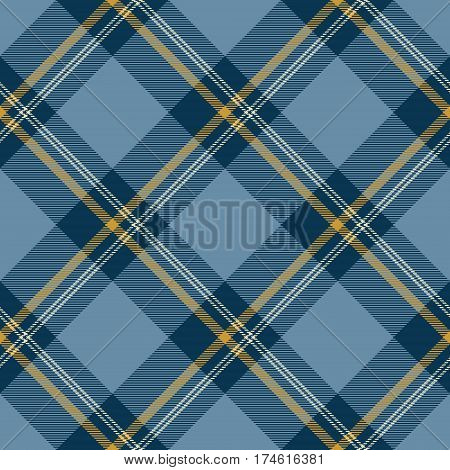 Tartan Seamless Pattern Background. Blue Yellow and White Plaid Tartan Flannel Shirt Patterns. Trendy Tiles Vector Illustration for Wallpapers.