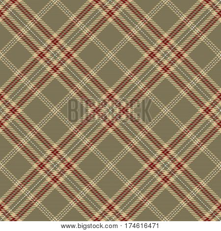 Tartan Seamless Pattern Background. Red Brown Beige and White Plaid Tartan Flannel Shirt Patterns. Trendy Tiles Vector Illustration for Wallpapers.