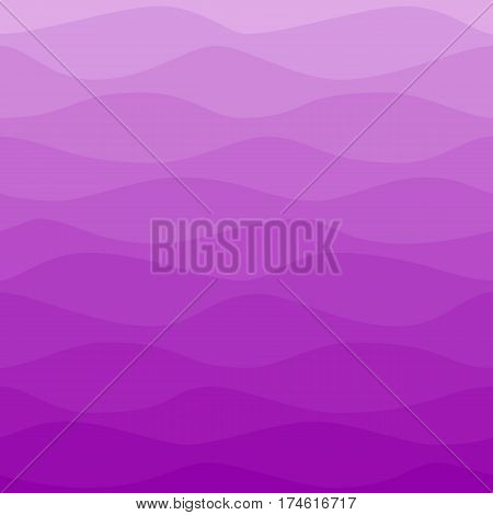 Gradual wavy violet background. Ombre color waves pattern. Graphic design element for web sites, stationary printables, fabric, scrapbooking, wedding or baby shower invitations, room wallpaper, birthday card etc.
