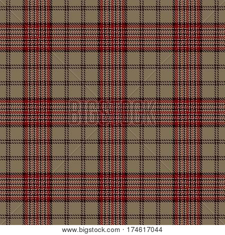 Tartan Seamless Pattern Background. Red Black Beige and White Plaid Tartan Flannel Shirt Patterns. Trendy Tiles Vector Illustration for Wallpapers.
