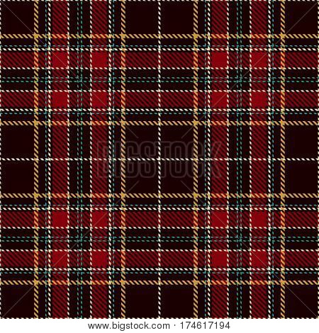 Tartan Seamless Pattern Background. Red Black Green Gold and White Plaid Tartan Flannel Shirt Patterns. Trendy Tiles Vector Illustration for Wallpapers.