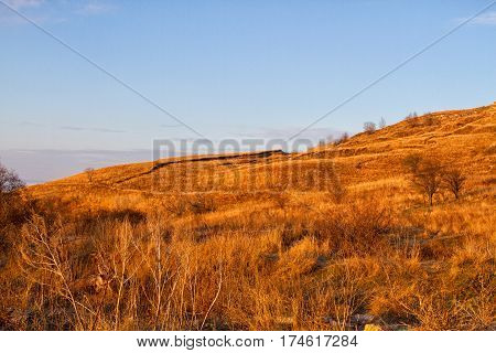 Reserve Strizhament. Autumn mountain landscape. Russia Stavropol.