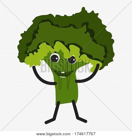 Salad Character Icon