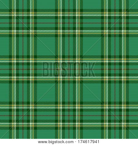 Tartan Seamless Pattern Background. Red Green Gold and White Plaid Tartan Flannel Shirt Patterns. Trendy Tiles Vector Illustration for Wallpapers.