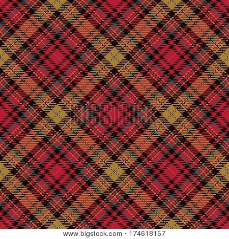 Tartan Seamless Pattern Background. Red Black Yellow and White Plaid Tartan Flannel Shirt Patterns. Trendy Tiles Vector Illustration for Wallpapers.