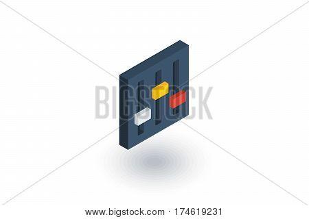 Mixer, Setup isometric flat icon. 3d vector colorful illustration. Pictogram isolated on white background