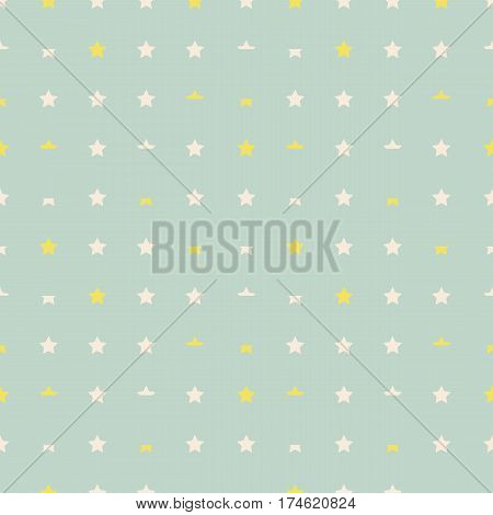 Stylish abstract seamless pattern of stars in gentle tones