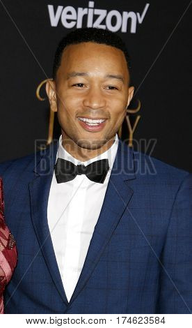 John Legend at the Los Angeles premiere of 'Beauty And The Beast' held at the El Capitan Theatre in Hollywood, USA on March 2, 2017.