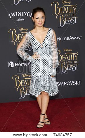 Aimee Carrero at the Los Angeles premiere of 'Beauty And The Beast' held at the El Capitan Theatre in Hollywood, USA on March 2, 2017.