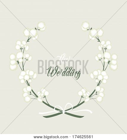 Vector illustration of white flowers decoration. Gypsophila blossom