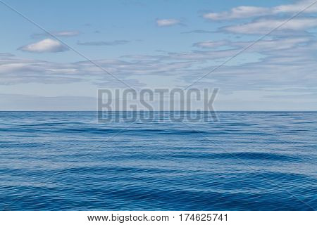 Open water surface of the Artic Circle Iceland