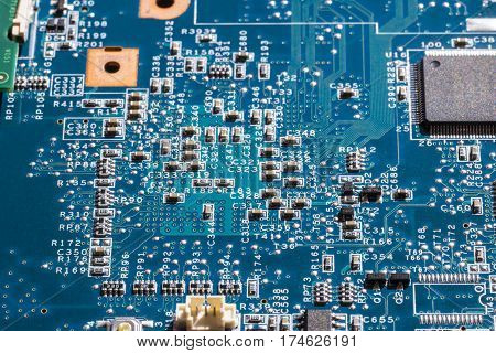 macro details of electronic components in computer circuits