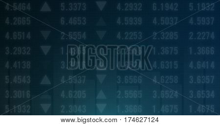 Stock market financial analysis indicator background Design