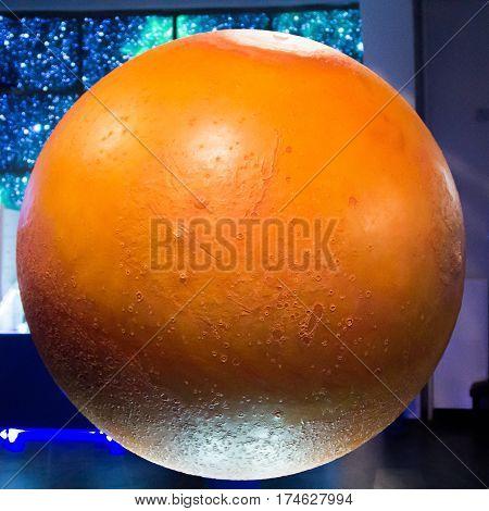 Large Physical Globe Of Planet Venus