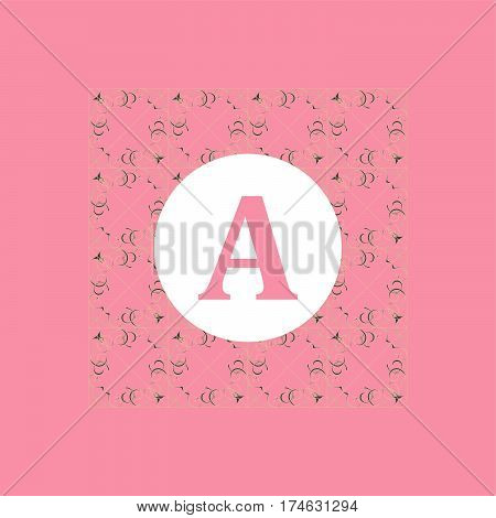 Stylish And Graceful Floral Monogram Design. Elegant Line Art Logo Design.