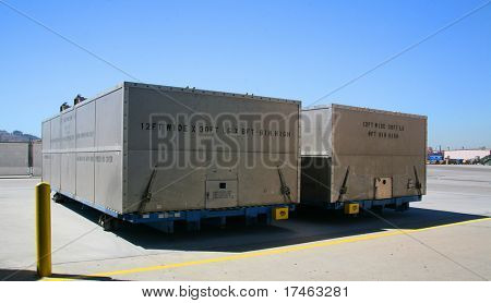 Airplane Production Factory Shipping Containers