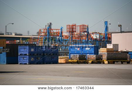 Outside Shipping Area of Airplane Production Factory