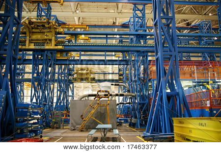 Airplane Production Factory Production Jig