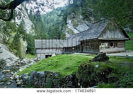 Known for attractive tourist destination in Liptov - Mlyny - Oblazy Kvacianska valley in Slovakia.