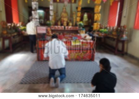 blurred photo Blurry imageThailand's ethnic Chinese were to pay respect to pray background