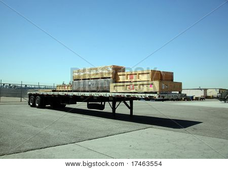 Shipping Receiving Area Outside Aerospace Plant