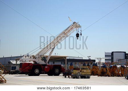 Cargo Shipping Crane in Aerospace Plant