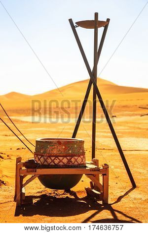 Traditional Berber Nomad Hostel In The Desert Morocco