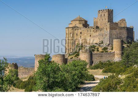 Castle of Loarre and surroundings, Hoya de Huesca Loarre Aragon Huesca Spain