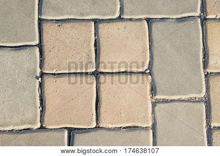 The Concrete blocks road blocks ground floor.