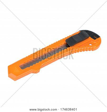 orange plastic knife with interchangeable blades for cardboard paper