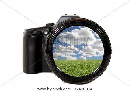 Beautiful Landscape Viewed Through a Camera Lens