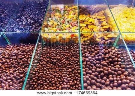 Colorful Superfood Candy At Candy Shop Market