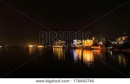 Romantic city of Udaipur in Rajasthan, India